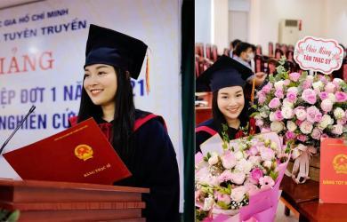 Minh Hương 'Nhật ký Vàng Anh' nhận bằng thạc sĩ của trường Học viện báo chí tuyên truyền