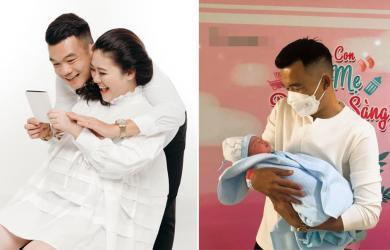 Đang trong thời gian 'bị treo giò' 9 tháng ở nhà, cầu thủ Ngô Hoàng Thịnh chào đón con thứ hai ra đời